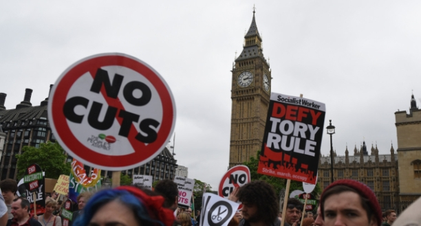 People's Assembly Against Austerity Hold Demonstration And Festival